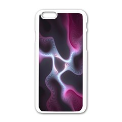 Colorful Fractal Background Apple iPhone 6/6S White Enamel Case