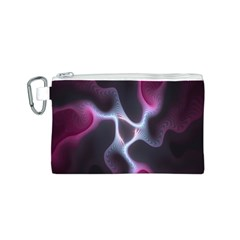 Colorful Fractal Background Canvas Cosmetic Bag (S)