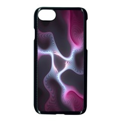 Colorful Fractal Background Apple Iphone 7 Seamless Case (black)