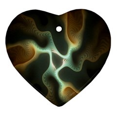 Colorful Fractal Background Ornament (Heart)