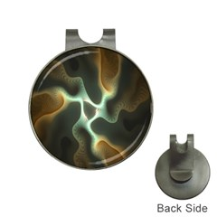 Colorful Fractal Background Hat Clips with Golf Markers