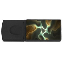 Colorful Fractal Background USB Flash Drive Rectangular (4 GB)