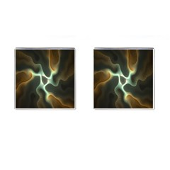Colorful Fractal Background Cufflinks (Square)