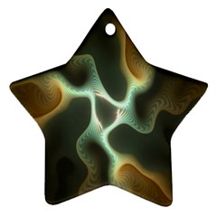 Colorful Fractal Background Star Ornament (Two Sides)