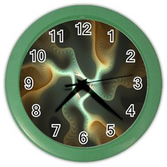 Colorful Fractal Background Color Wall Clocks
