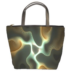 Colorful Fractal Background Bucket Bags
