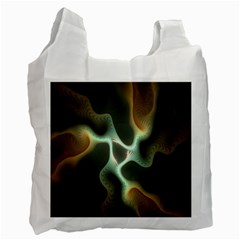 Colorful Fractal Background Recycle Bag (Two Side)