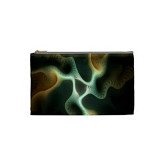 Colorful Fractal Background Cosmetic Bag (small)