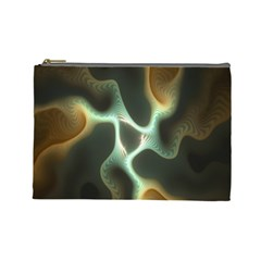 Colorful Fractal Background Cosmetic Bag (Large)
