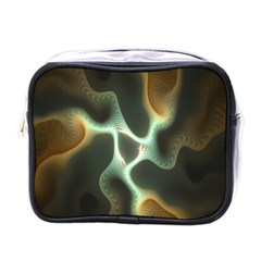 Colorful Fractal Background Mini Toiletries Bags