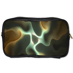 Colorful Fractal Background Toiletries Bags 2 Side