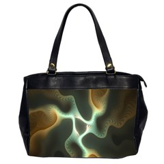 Colorful Fractal Background Office Handbags (2 Sides)