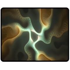 Colorful Fractal Background Fleece Blanket (Medium)