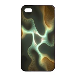 Colorful Fractal Background Apple iPhone 4/4s Seamless Case (Black)