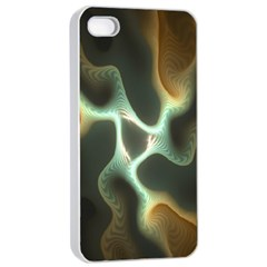 Colorful Fractal Background Apple iPhone 4/4s Seamless Case (White)