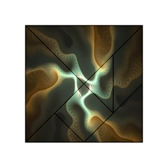 Colorful Fractal Background Acrylic Tangram Puzzle (4  x 4 )