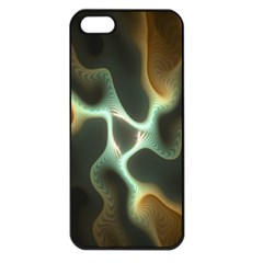 Colorful Fractal Background Apple iPhone 5 Seamless Case (Black)