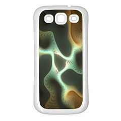 Colorful Fractal Background Samsung Galaxy S3 Back Case (White)