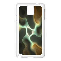 Colorful Fractal Background Samsung Galaxy Note 3 N9005 Case (white)