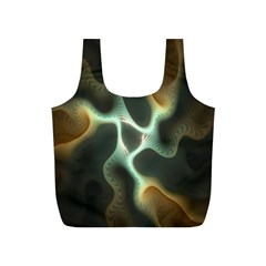 Colorful Fractal Background Full Print Recycle Bags (S)