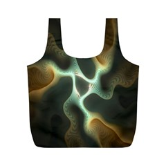 Colorful Fractal Background Full Print Recycle Bags (M)