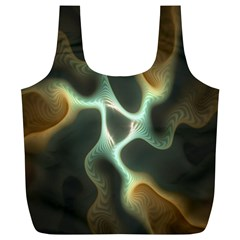 Colorful Fractal Background Full Print Recycle Bags (l)