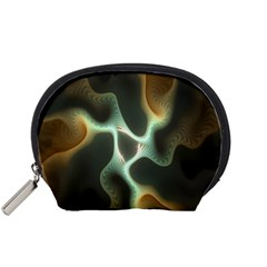 Colorful Fractal Background Accessory Pouches (Small)