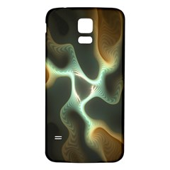 Colorful Fractal Background Samsung Galaxy S5 Back Case (White)