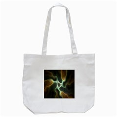 Colorful Fractal Background Tote Bag (White)