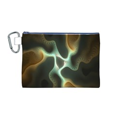 Colorful Fractal Background Canvas Cosmetic Bag (M)