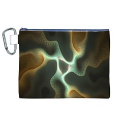Colorful Fractal Background Canvas Cosmetic Bag (XL)