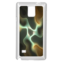 Colorful Fractal Background Samsung Galaxy Note 4 Case (White)