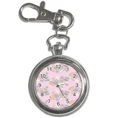 Floral Flower Rose Sunflower Star Leaf Pink Green Blue Key Chain Watches
