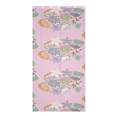 Floral Flower Rose Sunflower Star Leaf Pink Green Blue Shower Curtain 36  X 72  (stall)