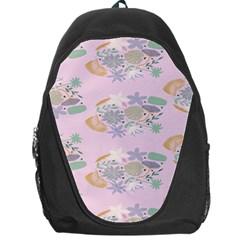 Floral Flower Rose Sunflower Star Leaf Pink Green Blue Backpack Bag