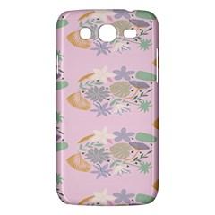 Floral Flower Rose Sunflower Star Leaf Pink Green Blue Samsung Galaxy Mega 5.8 I9152 Hardshell Case