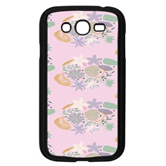 Floral Flower Rose Sunflower Star Leaf Pink Green Blue Samsung Galaxy Grand Duos I9082 Case (black)