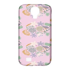 Floral Flower Rose Sunflower Star Leaf Pink Green Blue Samsung Galaxy S4 Classic Hardshell Case (PC+Silicone)