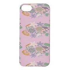 Floral Flower Rose Sunflower Star Leaf Pink Green Blue Apple iPhone 5S/ SE Hardshell Case