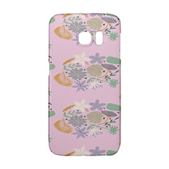 Floral Flower Rose Sunflower Star Leaf Pink Green Blue Galaxy S6 Edge