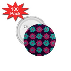 Flower Floral Rose Sunflower Purple Blue 1 75  Buttons (100 Pack)