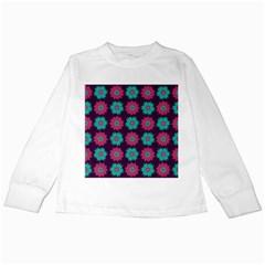 Flower Floral Rose Sunflower Purple Blue Kids Long Sleeve T Shirts