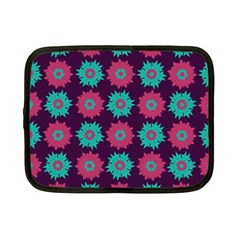 Flower Floral Rose Sunflower Purple Blue Netbook Case (small)