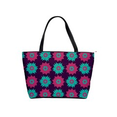 Flower Floral Rose Sunflower Purple Blue Shoulder Handbags