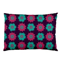 Flower Floral Rose Sunflower Purple Blue Pillow Case (Two Sides)