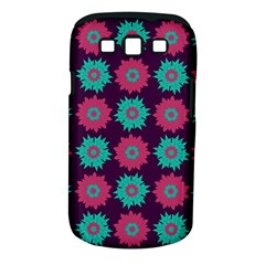Flower Floral Rose Sunflower Purple Blue Samsung Galaxy S III Classic Hardshell Case (PC+Silicone)