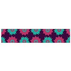 Flower Floral Rose Sunflower Purple Blue Flano Scarf (Small)