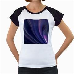 Purple Fractal Women s Cap Sleeve T