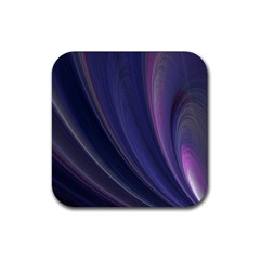 Purple Fractal Rubber Square Coaster (4 Pack)