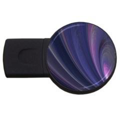 Purple Fractal Usb Flash Drive Round (2 Gb)